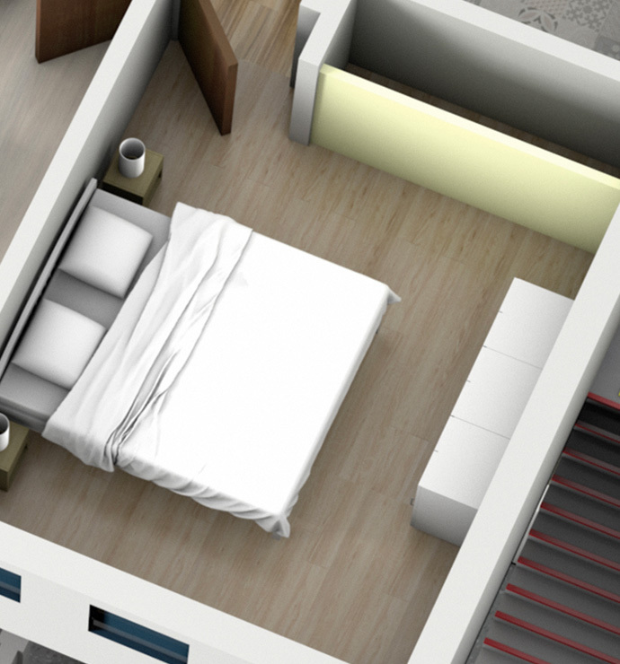 Private rooms: bedroom