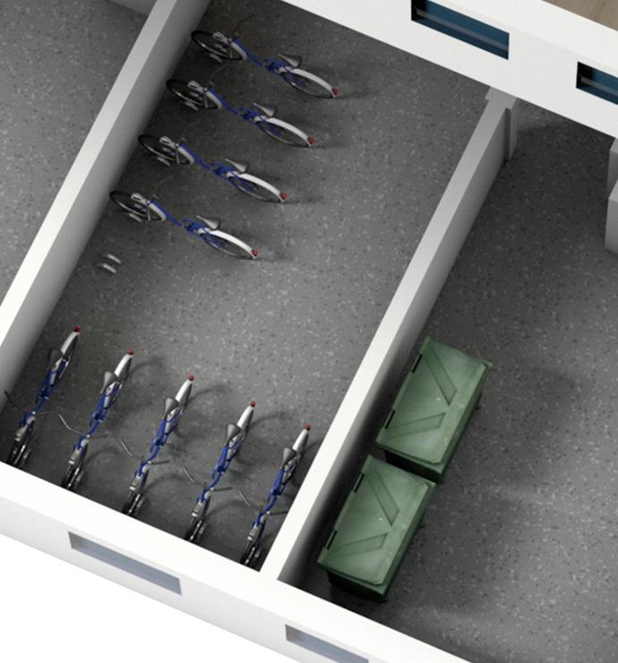 Common areas: storage rooms XXXX