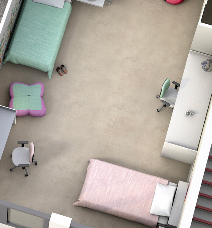 Privative rooms: bedroom